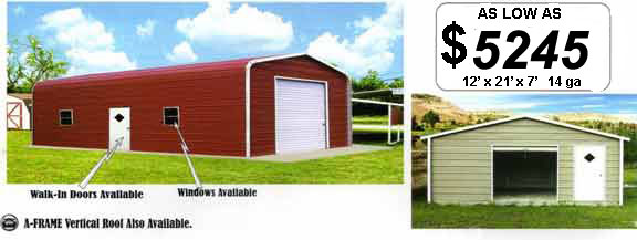 Small Storage Sheds - Other sizes